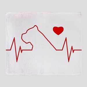 Cane Corso Heartbeat Throw Blanket