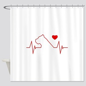 Cane Corso Heartbeat Shower Curtain