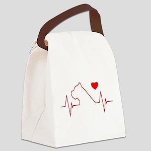 Cane Corso Heartbeat Canvas Lunch Bag