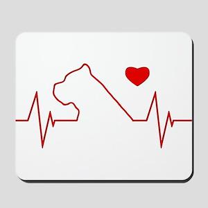 Cane Corso Heartbeat Mousepad