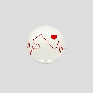 Cane Corso Heartbeat Mini Button