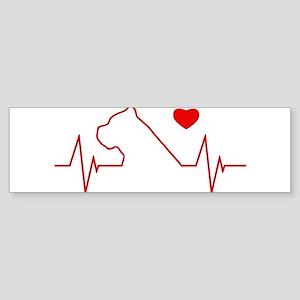 Cane Corso Heartbeat Sticker (Bumper)