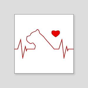 """Cane Corso Heartbeat Square Sticker 3"""" x 3"""""""