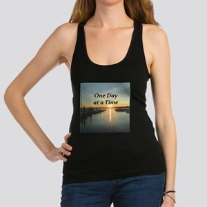 ONE DAY AT A TIME Racerback Tank Top