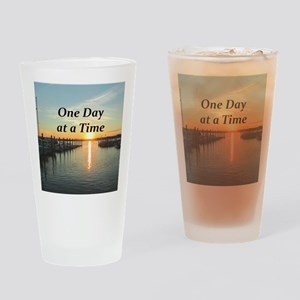 ONE DAY AT A TIME Drinking Glass