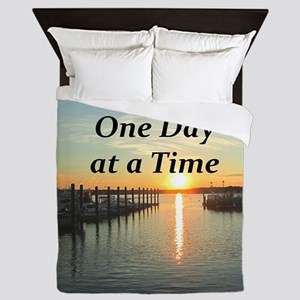 ONE DAY AT A TIME Queen Duvet