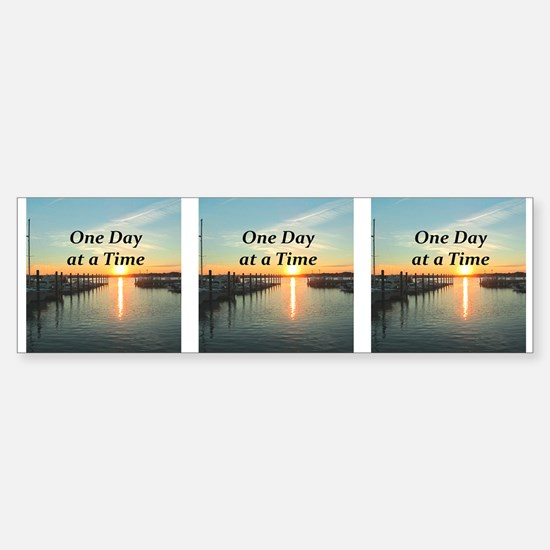 ONE DAY AT A TIME Sticker (Bumper)