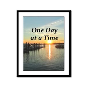 ONE DAY AT A TIME Framed Panel Print