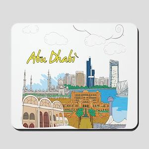 Abu Dhabi in the United Arab Emirates Mousepad