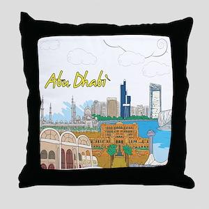 Abu Dhabi in the United Arab Emirates Throw Pillow