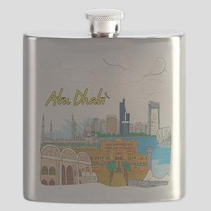 Abu Dhabi in the United Arab Emirates Flask