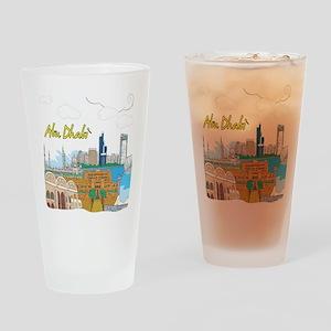 Abu Dhabi in the United Arab Emirates Drinking Gla