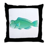 Green Humphead Bumphead Parrotfish Throw Pillow