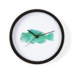 Green Humphead Bumphead Parrotfish Wall Clock