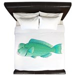 Green Humphead Bumphead Parrotfish King Duvet