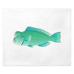 Green Humphead Bumphead Parrotfish King Duvet