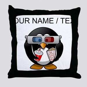 Custom Cinema Penguin Throw Pillow
