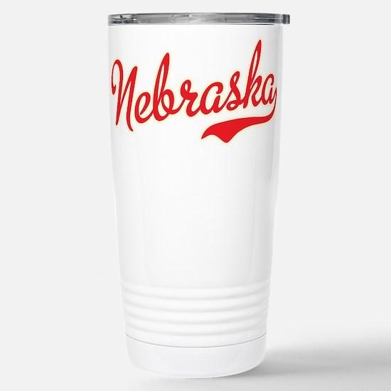 Nebraska Script Font Travel Mug