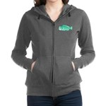 Green Humphead Parrotfish C Women's Zip Hoodie