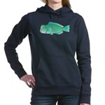 Green Humphead Parrotfish C Women's Hooded Sweatsh