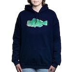 Green Humphead Parrotfish C Women's Hooded Sweatsh