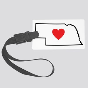I Love Nebraska Large Luggage Tag