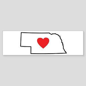 I Love Nebraska Sticker (Bumper)