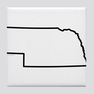 Nebraska State Outline Tile Coaster