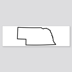 Nebraska State Outline Sticker (Bumper)