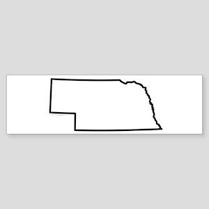 Nebraska State Outline Sticker (Bumper)