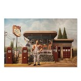 Automotive esso gas station Postcards