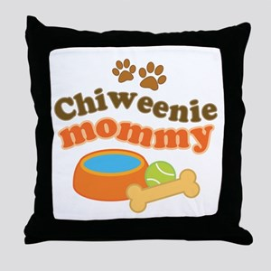 Chiweenie mom Throw Pillow