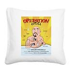 Operation Opera Logo Square Canvas Pillow