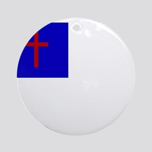 Christian Flag Ornament (Round)