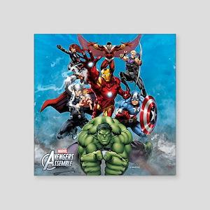 "Avengers Assemble Team Square Sticker 3"" x 3"""