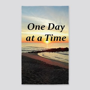 ONE DAY AT A TIME 3'x5' Area Rug