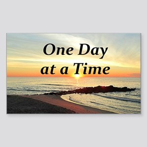 ONE DAY AT A TIME Sticker (Rectangle)