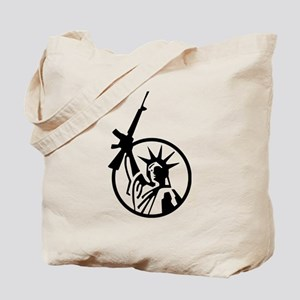 Lady Liberty AR-15 Tote Bag