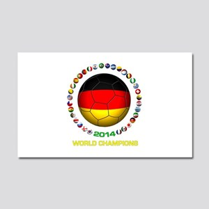 Germany World Champions 2014 Car Magnet 20 x 12