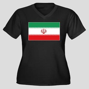 Jomhuri ye Eslami ye iran flag Women's Plus Size V