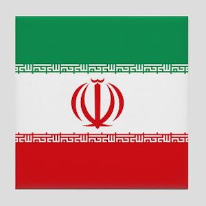 Jomhuri ye Eslami ye iran flag Tile Coaster