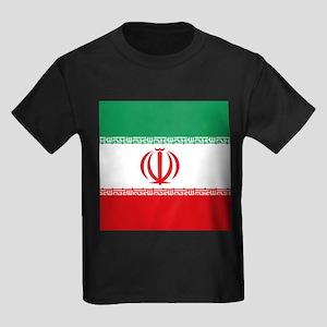 Jomhuri ye Eslami ye iran flag Kids Dark T-Shirt