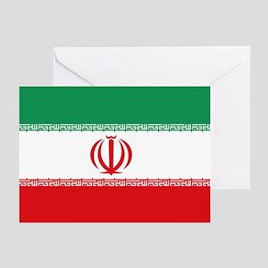 Jomhuri ye Eslami ye iran flag Greeting Cards (Pac