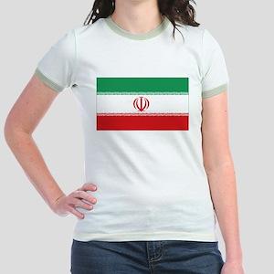 Jomhuri ye Eslami ye iran flag Jr. Ringer T-Shirt