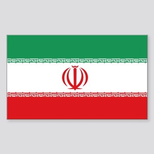 Jomhuri ye Eslami ye iran flag Sticker (Rectangula