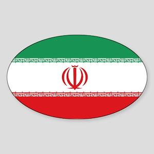 Jomhuri ye Eslami ye iran flag Oval Sticker
