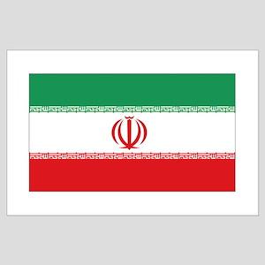 Jomhuri ye Eslami ye iran flag Large Poster