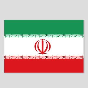 Jomhuri ye Eslami ye iran flag Postcards (Package
