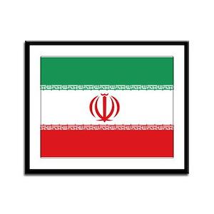 Jomhuri ye Eslami ye iran flag Framed Panel Print