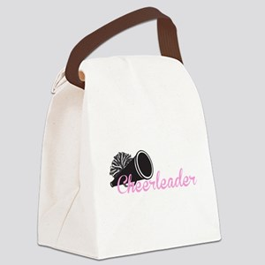 Cheerleader with megaphone Canvas Lunch Bag